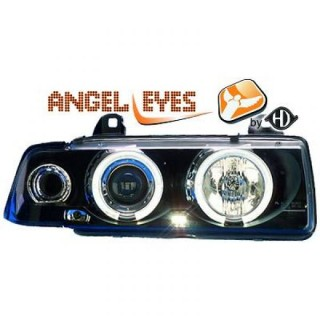 Angel eyes koplampen BMW 3-serie E36 Sedan/Touring - Zwart