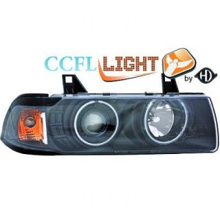 CCFL Angel eyes koplampen BMW 3-serie E36 Sedan/Touring - Zwart