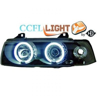 CCFL Angel eyes koplampen BMW 3-serie E36 - Zwart