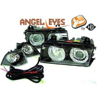 Angel eyes koplampen BMW 3-serie E36 - Zwart