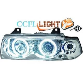 CCFL Angel eyes koplampen BMW 3-serie E36 - Chroom