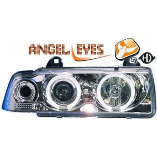 Angel eyes koplampen BMW 3-serie E36 - Chroom