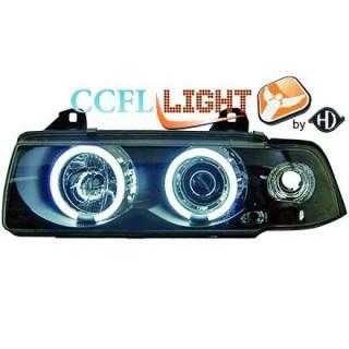 CCFL Angel eyes koplampen BMW 3-serie E36 - Zwart