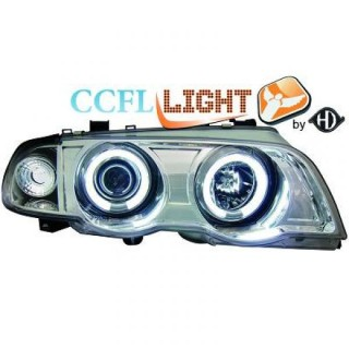 CCFL Angel eyes koplampen BMW 3-serie E46 - Chroom