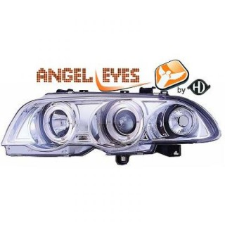 Angel eyes koplampen BMW 3-serie E46 - Chroom