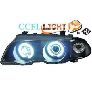CCFL Angel eyes koplampen BMW 3-serie E46 - Zwart