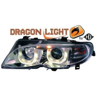 Koplampen met LED verlichting BMW 3-serie E46 - Chroom
