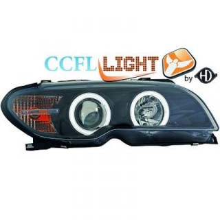 CCFL Angel Eyes Koplampen Bmw 3 Serie E46 Coupe/Cabrio - Zwart