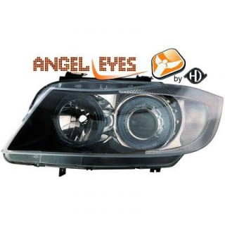 Angel eyes koplampen BMW 3-serie E90 - Zwart