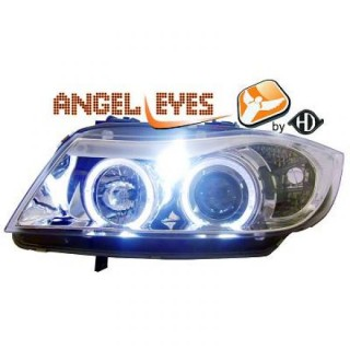 Angel eyes koplampen BMW 3-serie E90 - Chroom