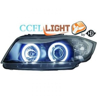 CCFL Angel eyes koplampen BMW 3-serie E90 - Zwart