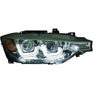 Koplampen met Dagrijverlichting Bmw 3-Serie F30 - Zwart
