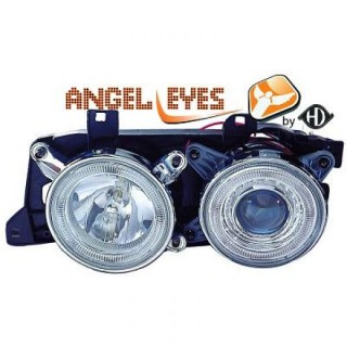 Angel eyes koplampen BMW 7-serie E32 / BMW 5-serie E34 - Chroom
