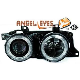 Angel eyes koplampen BMW 7-serie E32 / BMW 5-serie E34 - Zwart