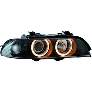 Angel eyes koplampen BMW 5-serie E39 - Zwart