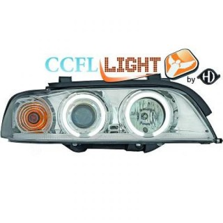 CCFL Angel eyes koplampen BMW 5-serie E39 - Chroom