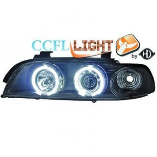 CCFL Angel eyes koplampen BMW 5-serie E39 - Zwart