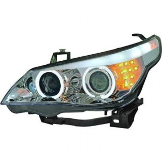 CCFL Angel Eyes koplampen Bmw 5-Serie E60/61 - Chroom