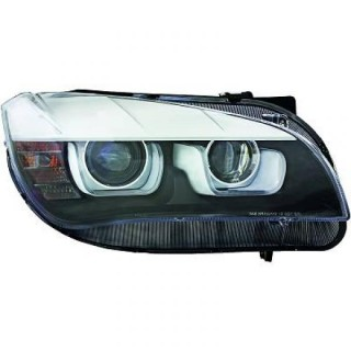 Koplampen met dagrijverlichting Bmw X1 E84 - Zwart