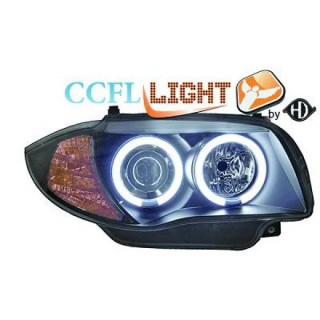 CCFL Angel eyes koplampen BMW 1-serie E87 - Zwart
