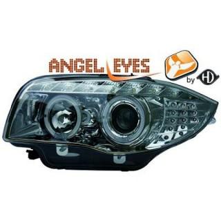 Angel eyes koplampen BMW 1-serie E87 - Chroom