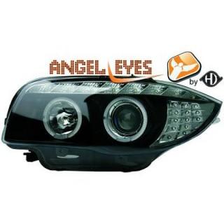 Angel eyes koplampen BMW 1-serie E87 - Zwart