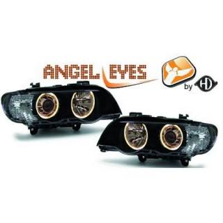 Angel eyes koplampen BMW X5 E53 - Zwart