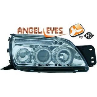 Angel eyes koplampen Ford Fiesta MK4 - Chroom
