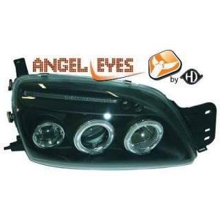 Angel eyes koplampen Ford Fiesta MK4 - Zwart