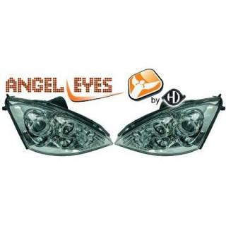 Angel eyes koplampen Ford Focus MK1 - Chroom
