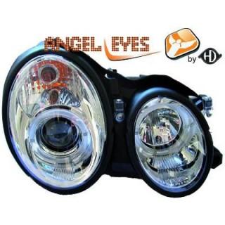 Angel eyes koplampen Mercedes CLK W208 - Chroom