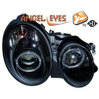 Angel eyes koplampen Mercedes CLK W208 - Zwart