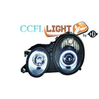CCFL Angel eyes koplampen Mercedes CLK W208 - Zwart