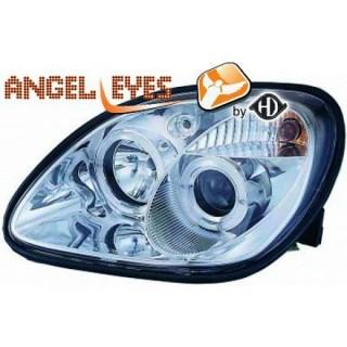 Angel eyes koplampen Mercedes SLK R170 - Chroom