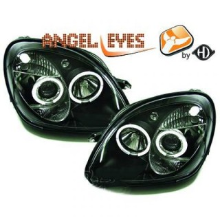 Angel eyes koplampen Mercedes SLK R170 - Zwart