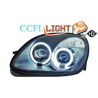 CCFL Angel eyes koplampen Mercedes SLK R170 - Zwart