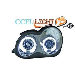 CCFL Angel eyes koplampen Mercedes C-Klasse W203 - Chroom
