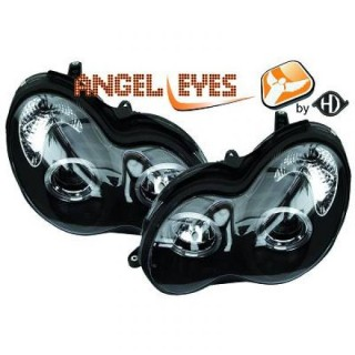 Angel eyes koplampen Mercedes C-Klasse W203 - Zwart
