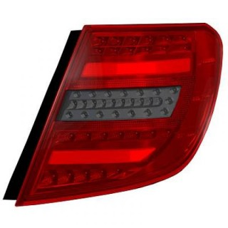 LED Achterlichten Mercedes C-Klasse W204 Station - Rood/Smoke