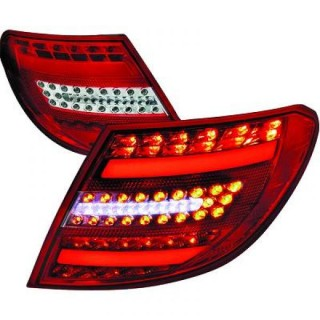 LED Achterlichten Mercedes C-Klasse W204 Sedan - Rood/Wit