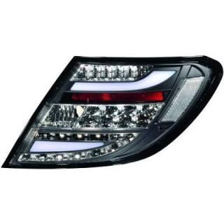 LED Achterlichten Mercedes C-Klasse W204 Sedan - Zwart/Smoke