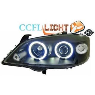 CCFL Angel eyes koplampen Opel Astra G - Zwart