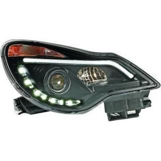 Koplampen met Dagrijverlichting Opel Corsa D - Zwart