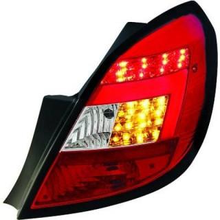 LED Achterlichten Opel Corsa D - Rood/Chroom