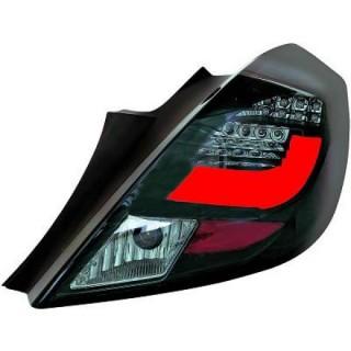 LED Achterlichten Opel Corsa D - Zwart/Smoke