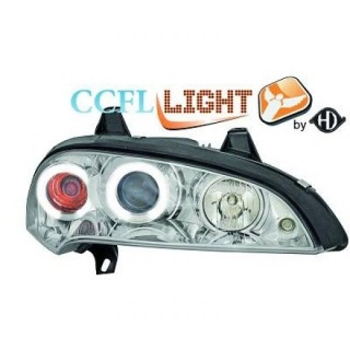 CCFL Angel eyes koplampen Opel Tigra - Chroom