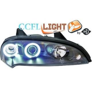 CCFL Angel eyes koplampen Opel Tigra - Zwart
