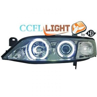 CCFL Angel eyes koplampen Opel Vectra B - Chroom