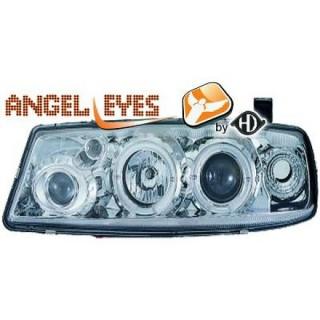 Angel eyes koplampen Opel Calibra - Chroom