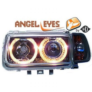 Angel eyes koplampen Volkswagen Polo 6N - Zwart